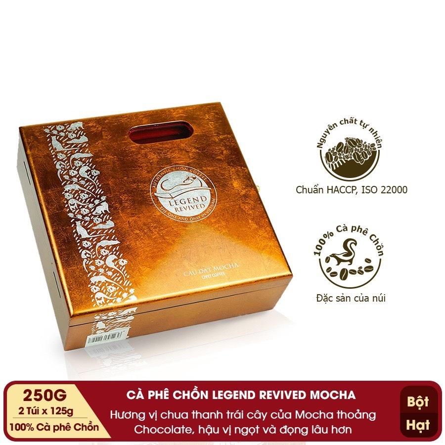 Cà phê Chồn Mocha - Hộp Sơn Mài 250gam