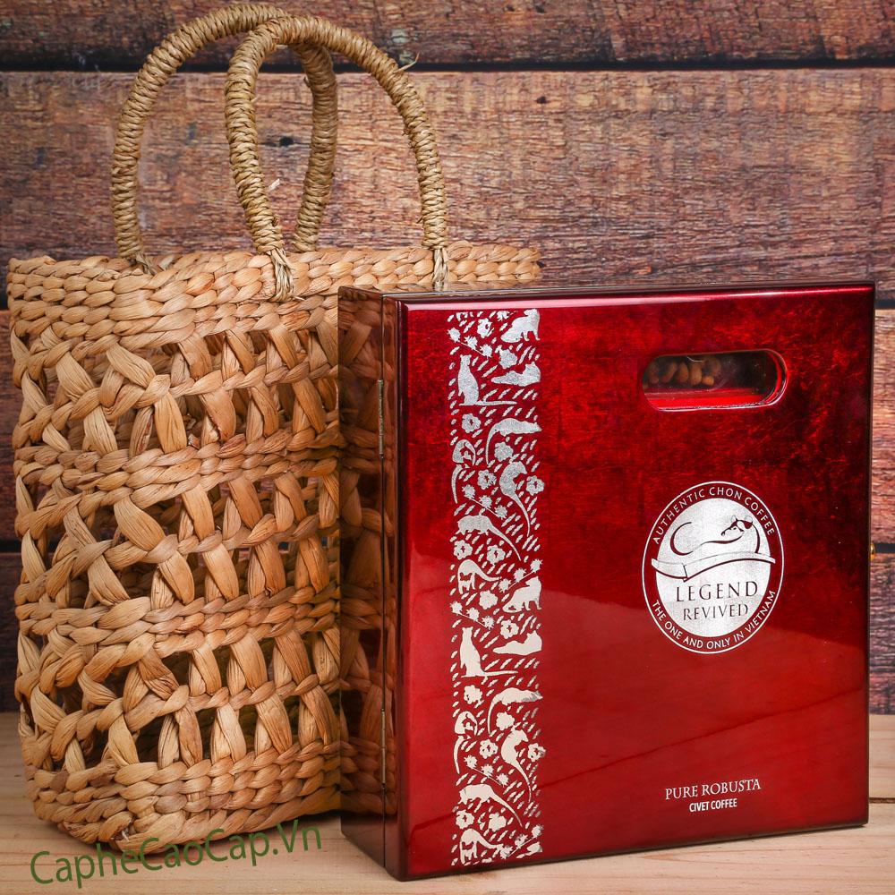 Hộp cà phê Chồn Robusta 250gam