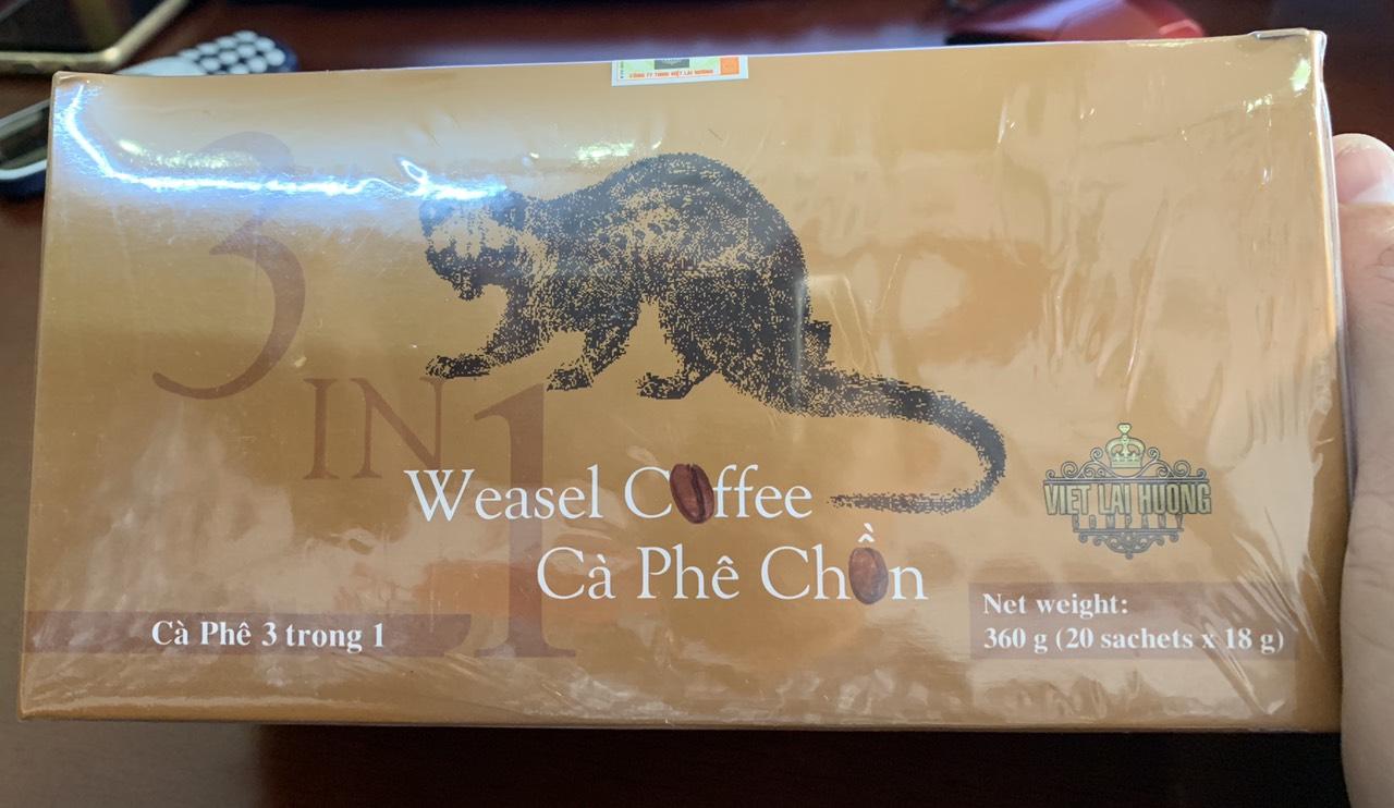 Cà phê Chồn hòa tan 3in1 -20 gói