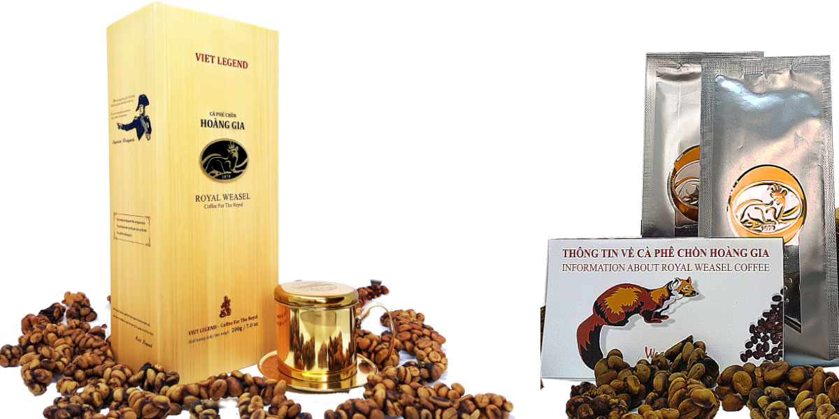 Hộp quà cà phê Chồn Hoàng Gia