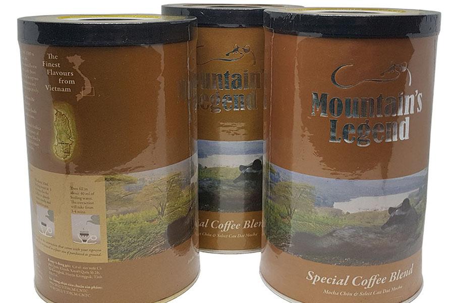 Hộp Cà phê 10% Chồn Mocha Lon 250gam
