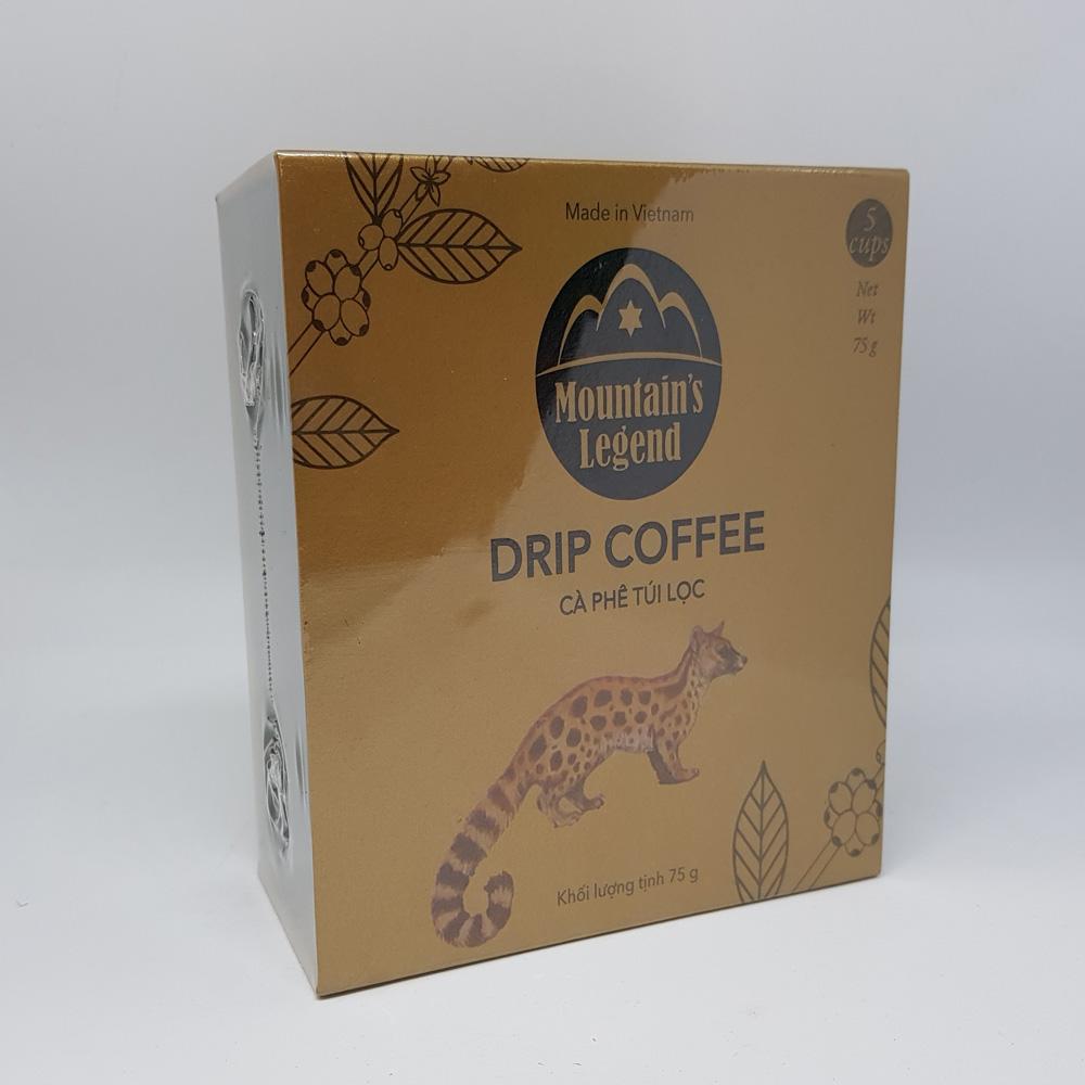 cà phê chồn túi lọc Mocha 75gr, cà phê Chồn, cà phê chồn túi lọc