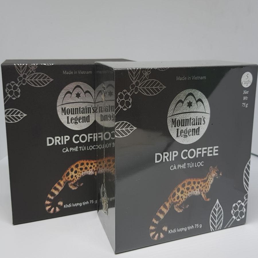 Cà phê Chồn Túi lọc Robusta 75gam