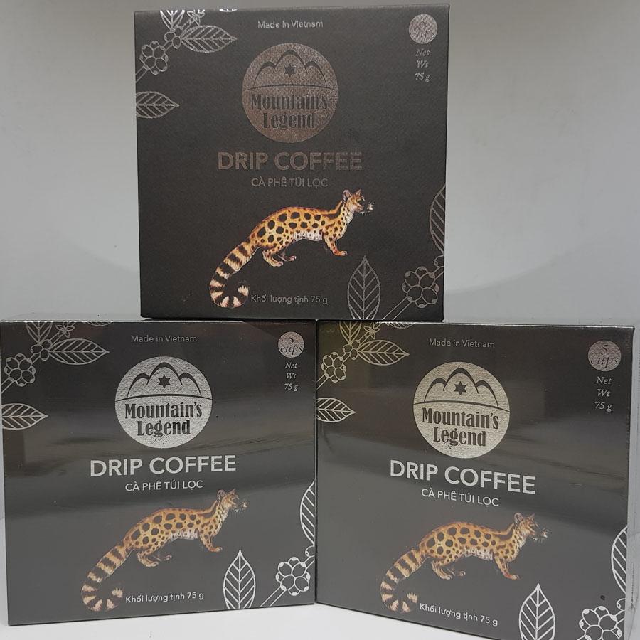 Hộp cà phê Chồn túi lọc
