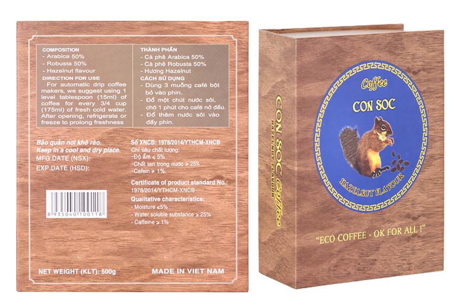 Hộp Cà phê Con sóc Xanh 500gam