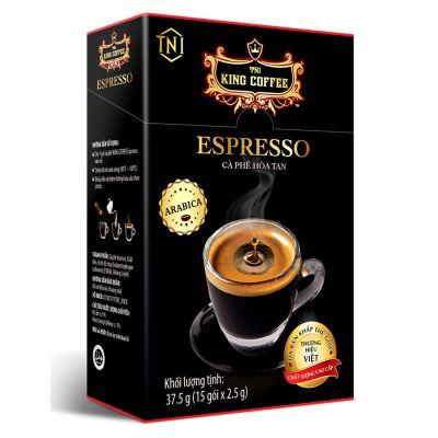 Cà phê đen( không đường) hòa tan TNI King Coffee Espresso Hộp 15 gói
