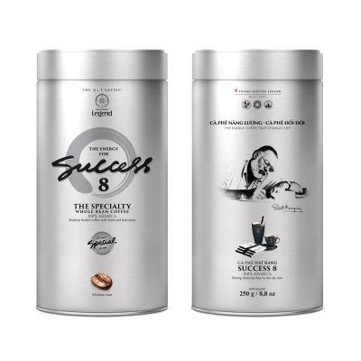 Cà phê hạt Trung Nguyên Success 8 (250gram/Lon)