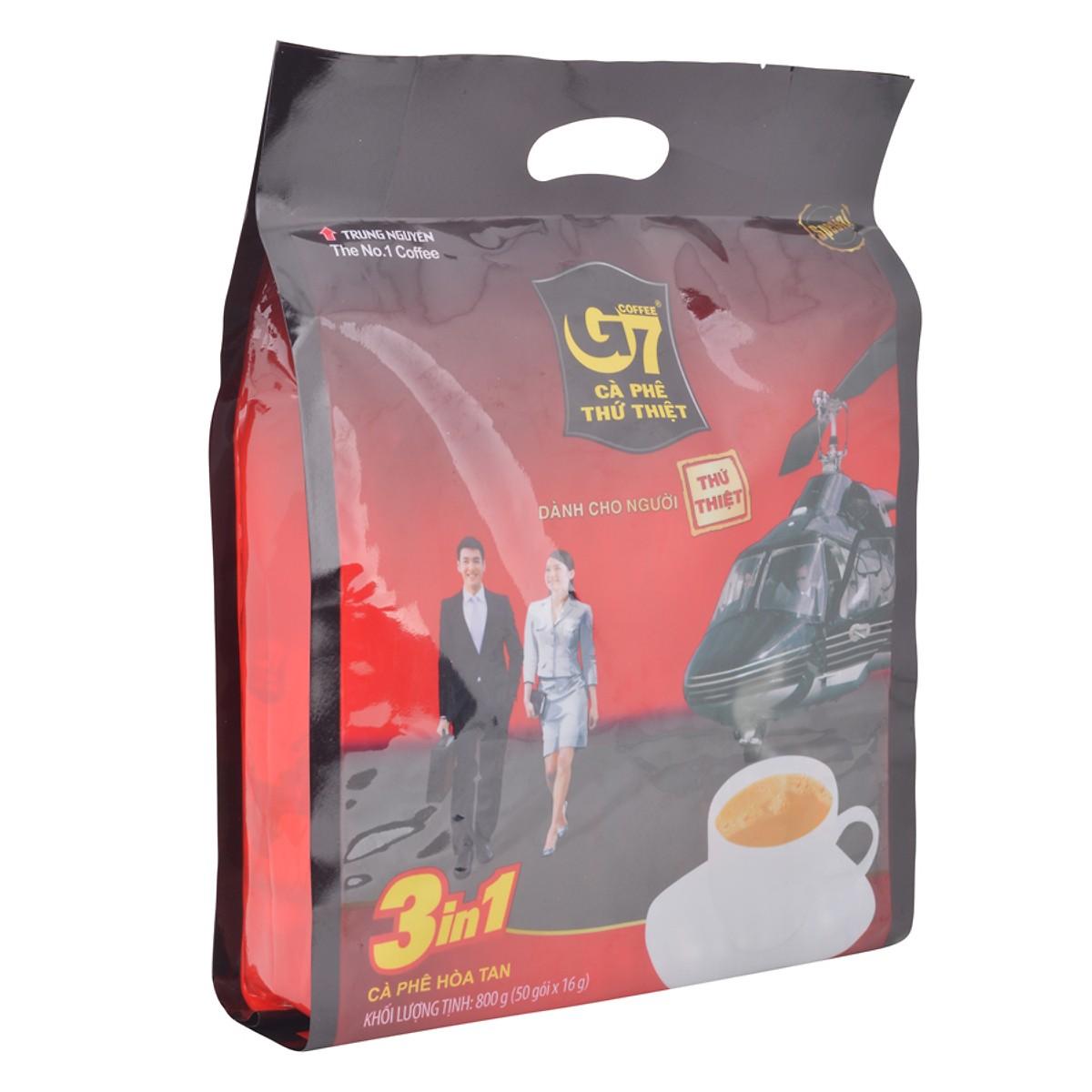 Cà Phê Sữa G7 3in1 Trung Nguyên (50 Gói)