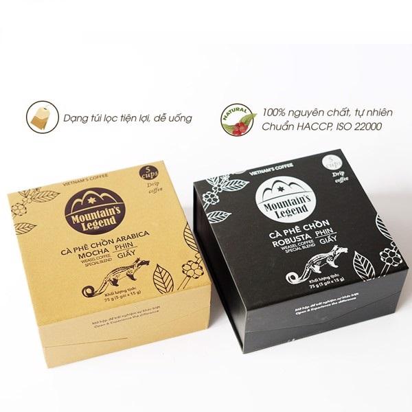 Combo 2 Hộp Cà phê Chồn Túi lọc( 75gam/Hộp)