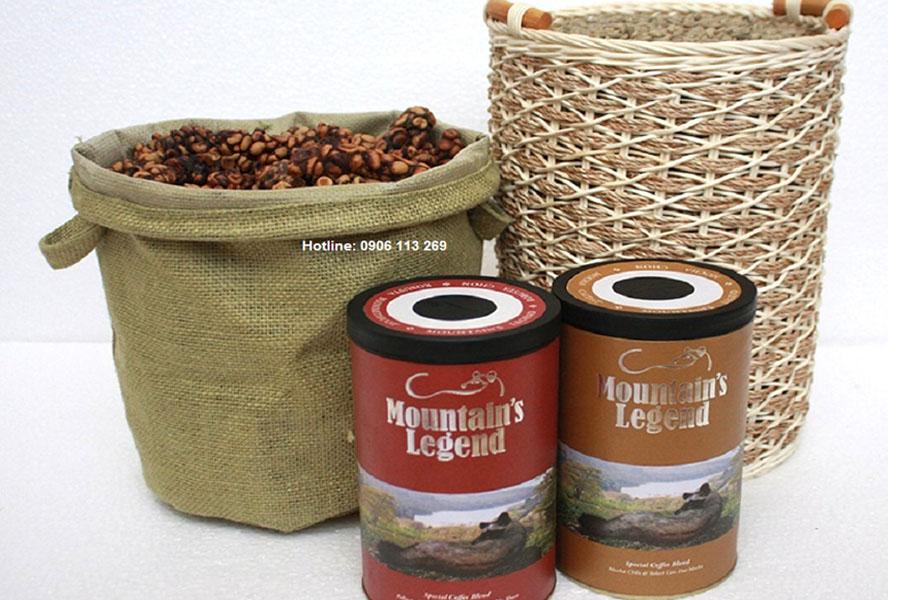 Cà phê chồn phối trộn Robusta Cầu Đất, Cà phê chồn