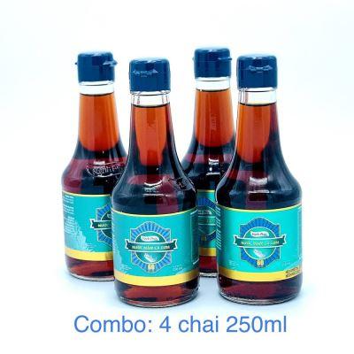 [COMBO-4CHAI] Nước mắm Hạnh Phúc 60 độ đạm chai 250ml