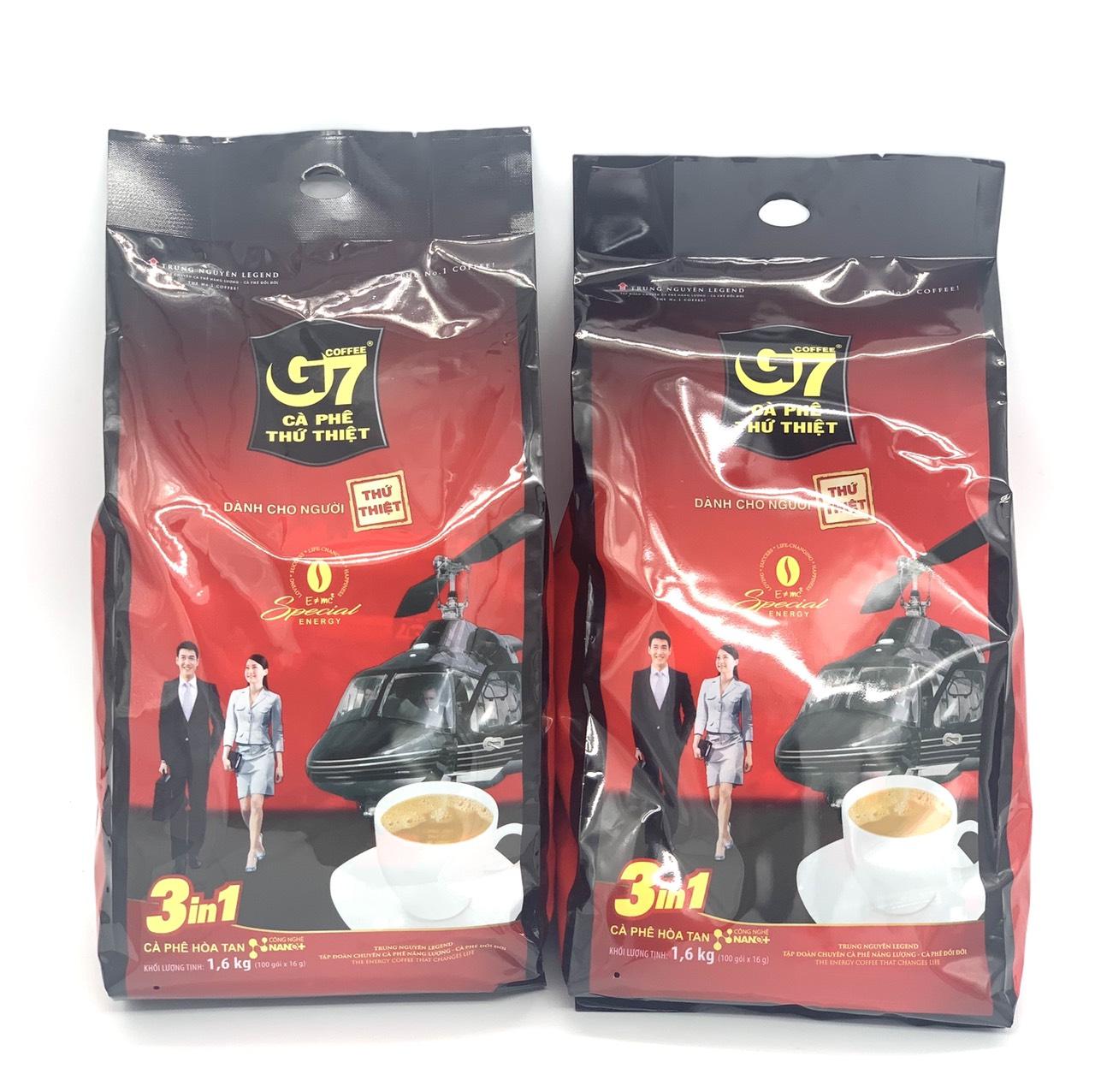 Cà Phê Sữa G7 3in1 Trung Nguyên ( Bịch 100 Gói x 16gam).