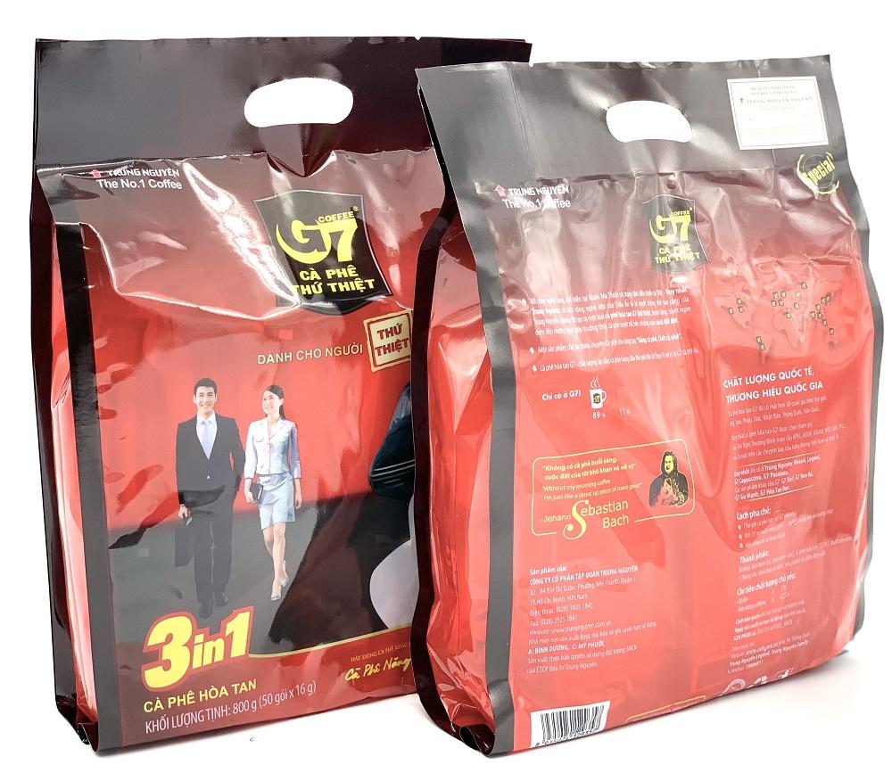 Cà phê sữa G7  bịch 50 gói  3in1 Trung Nguyên - Có TEM