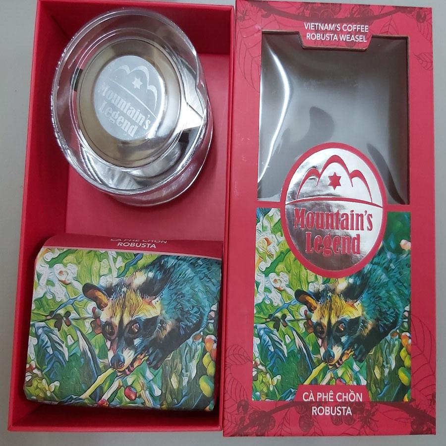 Gồm 200gam cà phê+ 01 Phin pha Inox