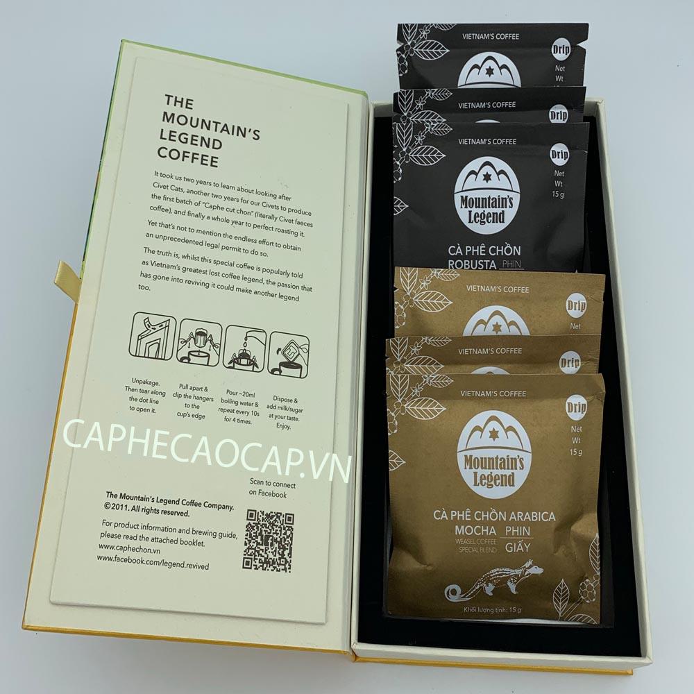 Hộp Cà phê Chồn phin lọc giấy