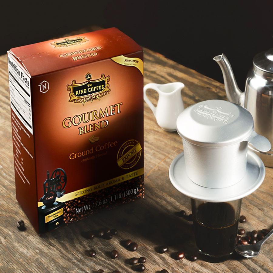 Cà phê Hộp Gourmet Blend King Coffee 500gam