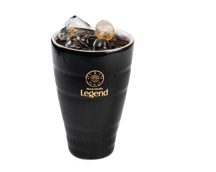 Ly Gốm Sứ Bát Tràng Đen Logo Legend Trung Nguyên
