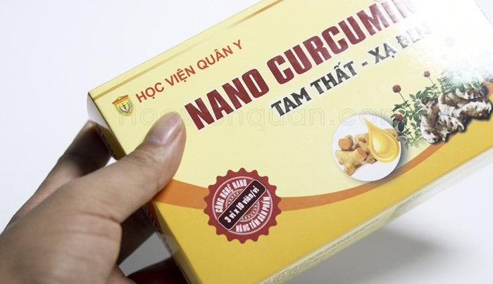 Nano curcumin tam thất xạ đen Học Viện Quân Y