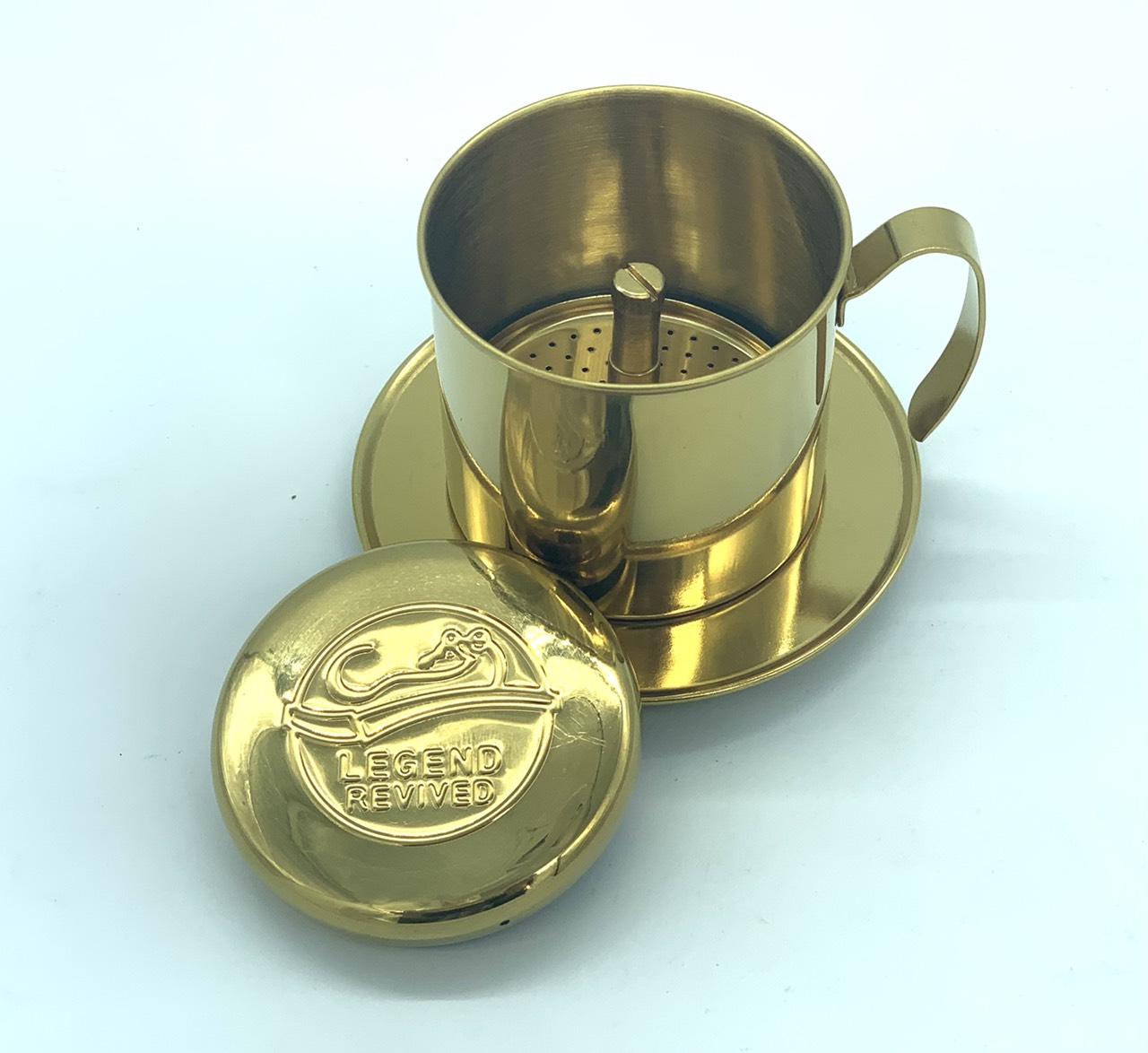 Phin pha cà phê inox logo Con Chồn