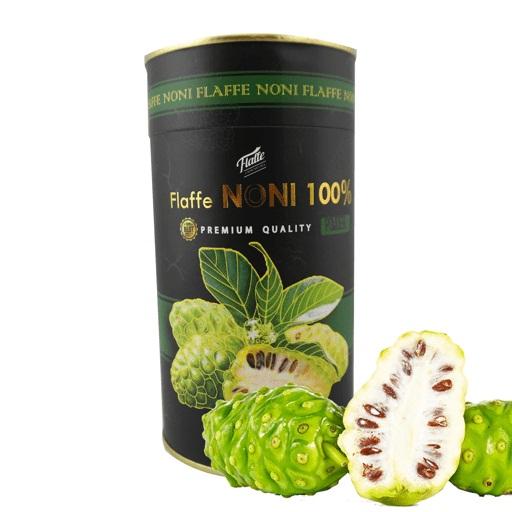 Viên bột trái nhàu sấy khô có chứa tới 210 chất dinh dưỡng được tìm thấy trong quả nhàu trong đó có: beta-carotence, các vitamin nhóm B và những chất chống oxy hóa như vitamin C, canxi, axit linoleic, magie, kali, protein